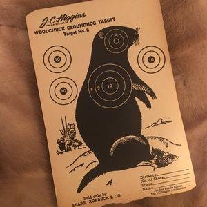 *Vintage Paper Hunting Shooting Target Groundhog